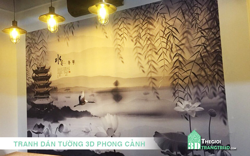 bán và thi công xốp giấy tranh dán tường 3d tphcm mỹ tho tiền giang, TRANG TRÍ KHÔNG GIAN PHÒNG KHÁCH, SHOWROOM VỚI TRANH DÁN TƯỜNG 3D PHONG CẢNH, TRANH TƯỜNG PHONG THỦY