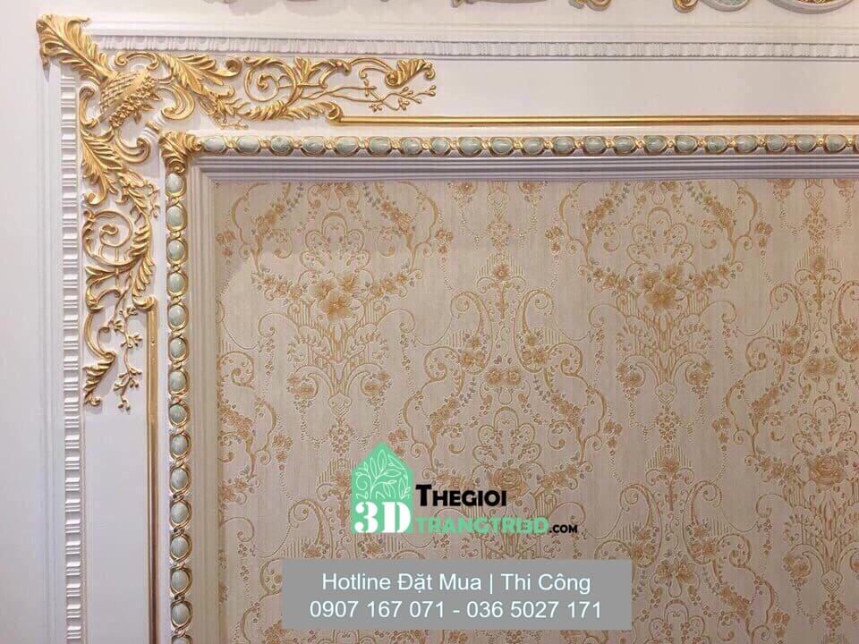 công trình phào chỉ trang trí nội thất sang trọng, Kết hợp phào chỉ trang trí và các vật liệu trang trí nội thất khác