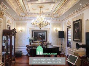công trình phào chỉ trang trí phòng khách, hành lang, vách cầu thang.... công trình phào chỉ trang trí nội thất sang trọng