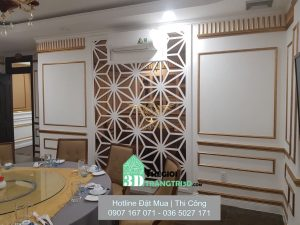 công trình phào chỉ trang trí nội thất sang trọng, Phào chỉ nhựa tphcm, thi công phào chỉ kết hợp giấy dán tường