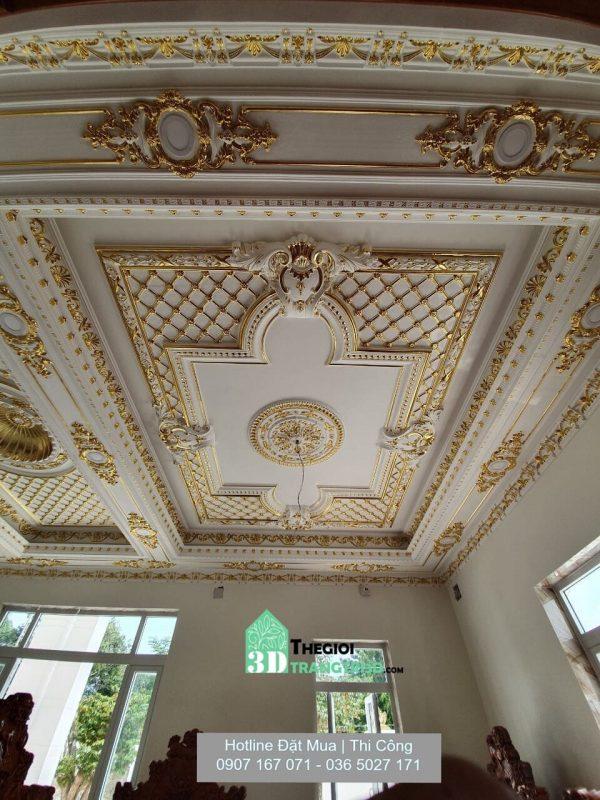 công trình phào chỉ trang trí nội thất sang trọng, Mẫu trang trí phào chỉ tường trần đẹp được ưa chuộng hiện nay