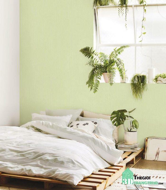 giấy dán tường màu pastel phòng ngủ