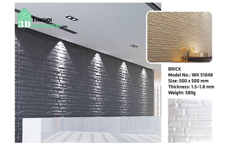 Ốp tường nhựa 3D PVC – BRICK WK51048