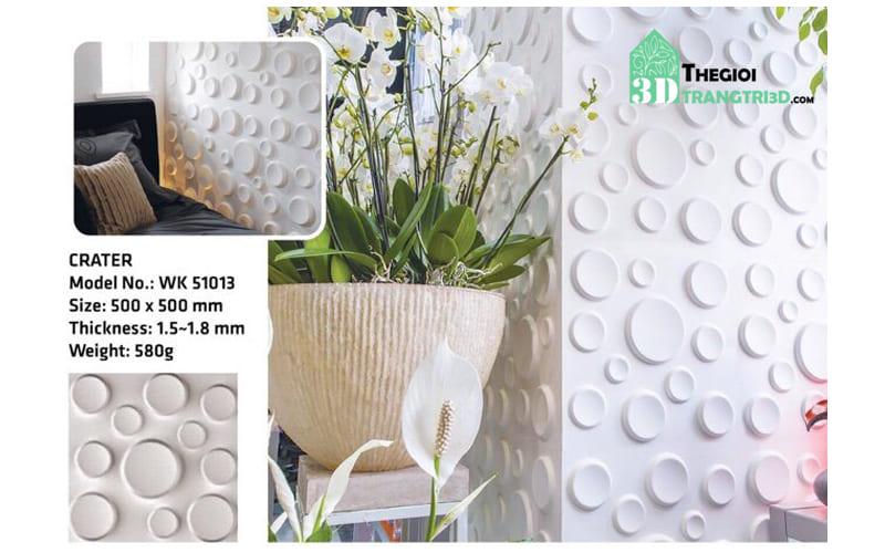 Ốp tường nhựa 3D PVC – CRATER WK51013