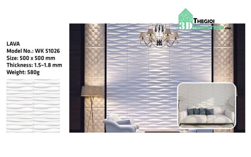 Ốp tường nhựa 3D PVC – LAVA WK51026