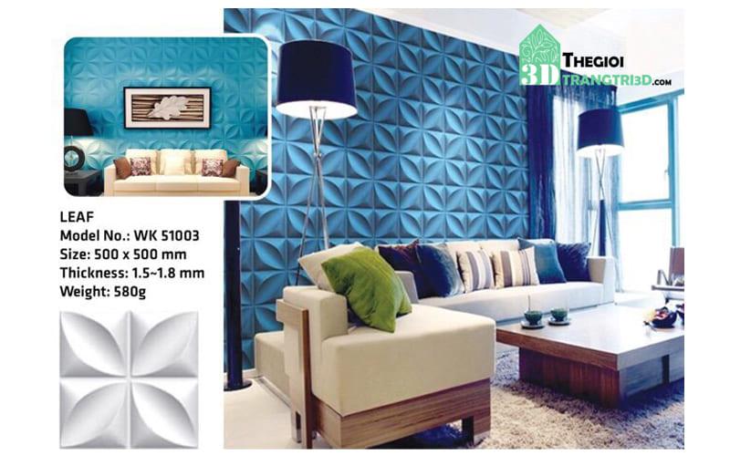 Ốp tường nhựa 3D PVC – LEAF WK51003