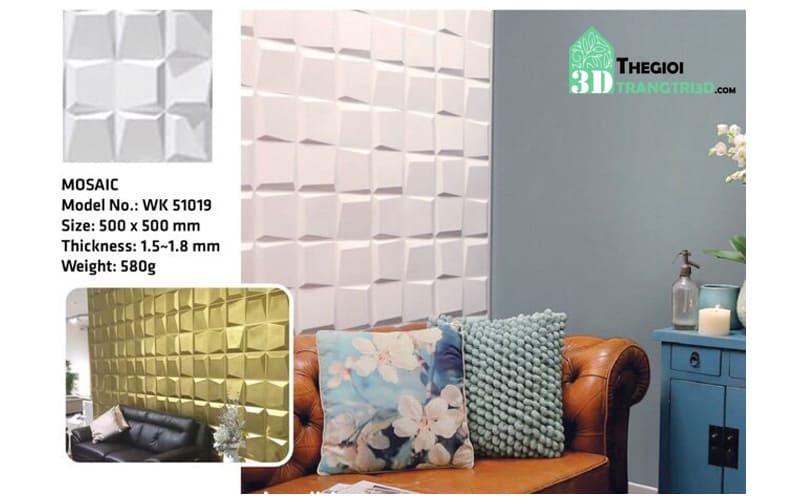 Ốp tường nhựa 3D PVC – MOSAIC WK51019
