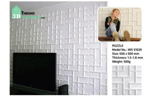 Ốp tường nhựa 3D PVC – PUZZLE WK51039