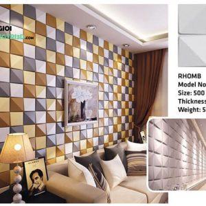 Ốp tường nhựa 3D PVC – RHOMB WK51016