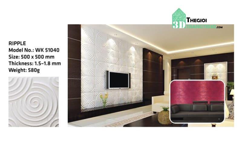 Ốp tường nhựa 3D PVC – RIPPLE WK51040