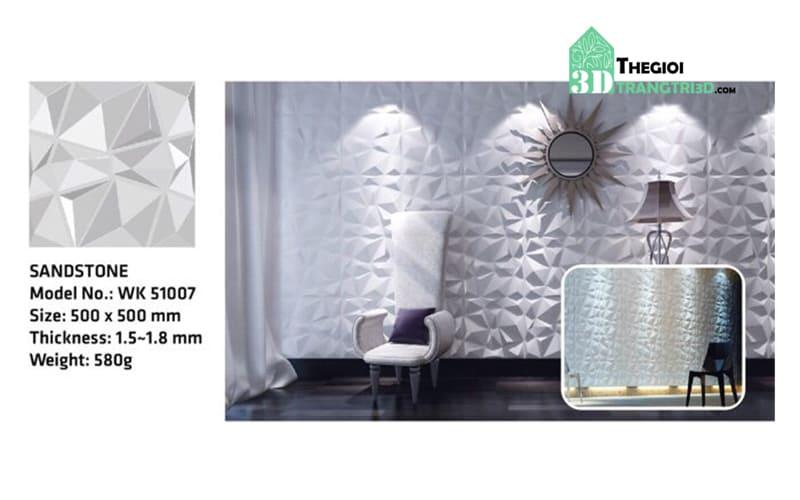 Ốp tường nhựa 3D PVC - SANDSTONE WK51007