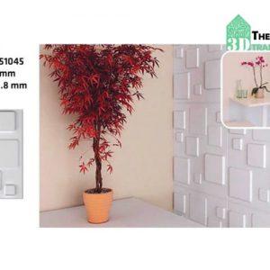 Ốp tường nhựa 3D PVC – SQUARE WK51045