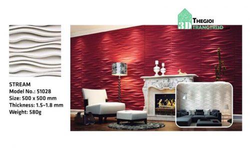 Ốp tường nhựa 3D PVC – STREAM WK51028