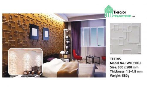 Ốp tường nhựa 3D PVC – TETRIS WK51038