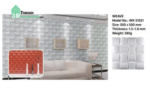 Ốp tường nhựa 3D PVC – WEAVE WK51021