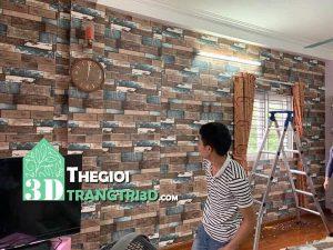 Bán xốp dán tường cách nhiệt, xốp tường 3D giả gạch giả gỗ