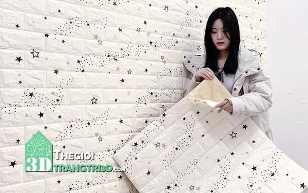 Xốp dán tường an toàn cho bé, cửa hàng bán xốp 3d dán tường tphcm