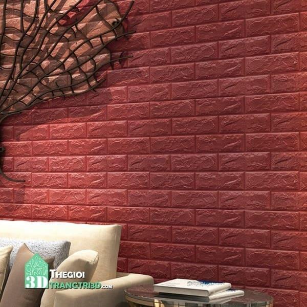 Xốp dán tường 3d giả gạch, cửa hàng bán xốp 3d dán tường tphcm