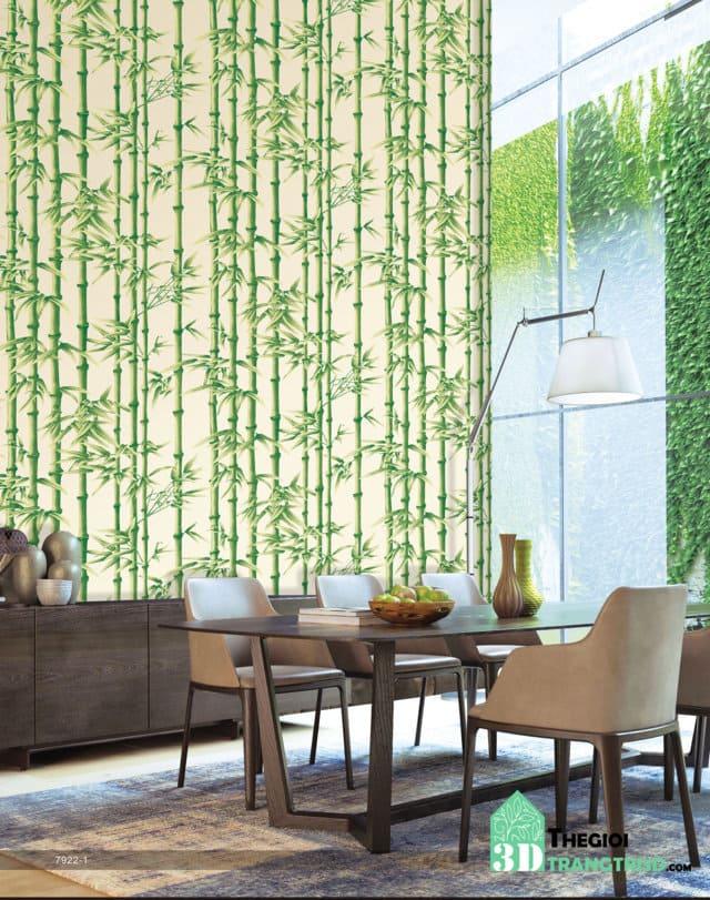 Phối cảnh giấy dán tường ANNIE, Mẫu giấy dán tường hoa, giấy dán tường thiên nhiên đẹp