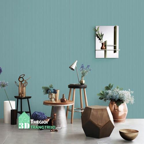 Giấy dán tường đơn sắc ứng dụng trang trí decor nội thất như thế nào?