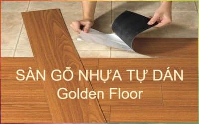 sàn nhựa gỗ tự dán golden floor tphcm, mỹ tho