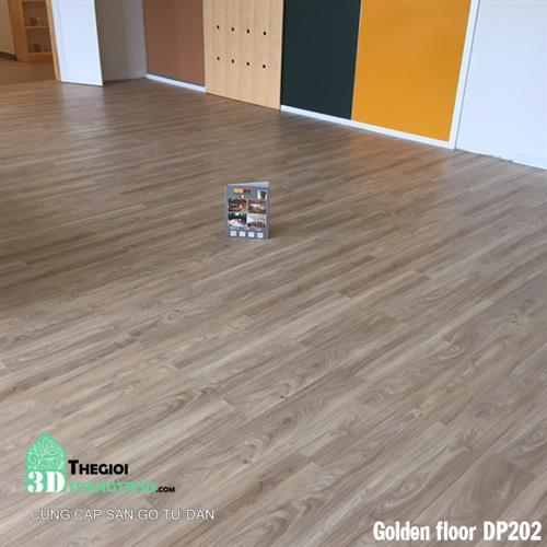 Sàn nhựa gỗ tự dán Golden Floor - Thế Giới Trang Trí 3D