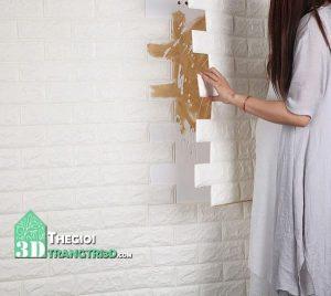 Xốp dán tường đẹp giá rẻ, tấm xốp dán tường giả gạch giả gỗ quận 9