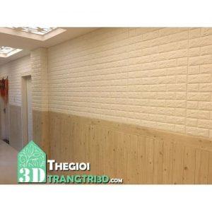 Xốp dán tường bếp, tấm xốp dán tường giả gạch giả gỗ quận 9