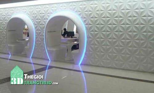 Sản phẩm ốp tường 3d nhựa pvc ngày càng phổ biến trong trang trí nội thất
