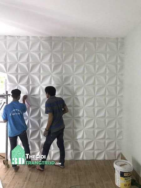 Thi công ốp tường 3d nhựa PVC, Đội ngũ Thi công Thế Giới Trang Trí 3D | KHO VẬT LIỆU GIÁ TỐT