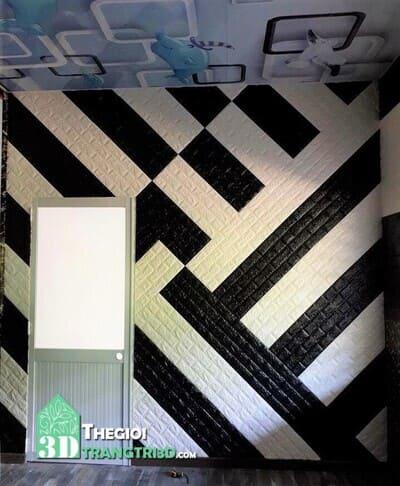 Xốp dán tường đen, các mẫu tấm xốp ốp dán tường 3d đẹp nhất