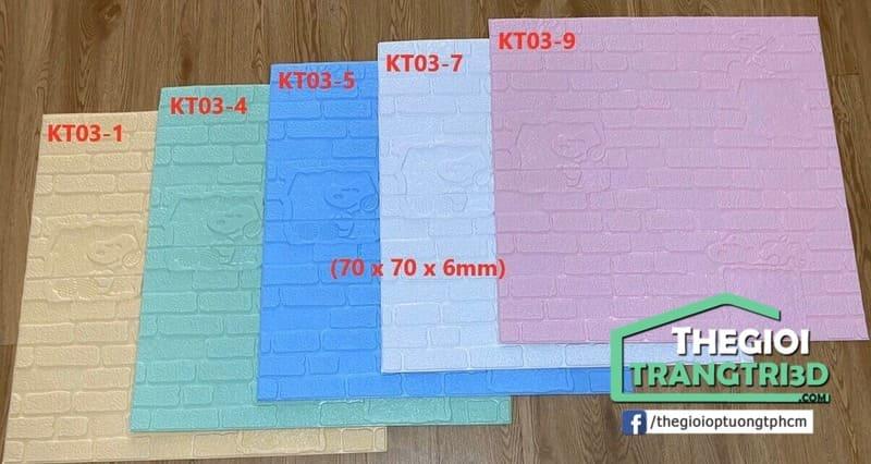 Ốp tường xốp 3d màu sắc đẹp và độ bền cao