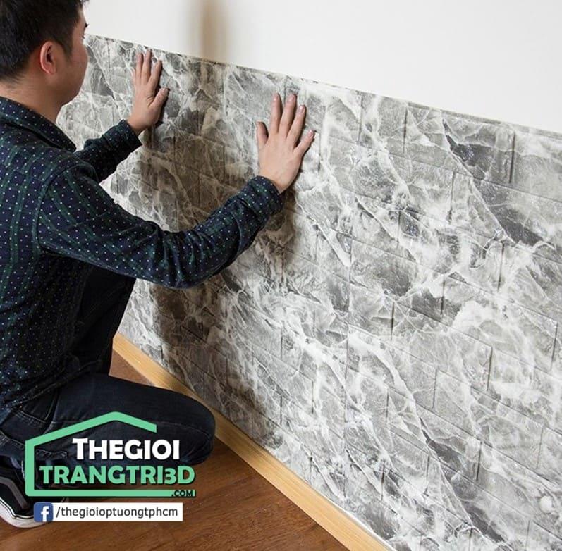 Kinh nghiệm mua đá ốp tường xốp 3D tphcm giá rẻ. Xử lý sơ bộ trước khi dán xốp 3d trang trí lên tường