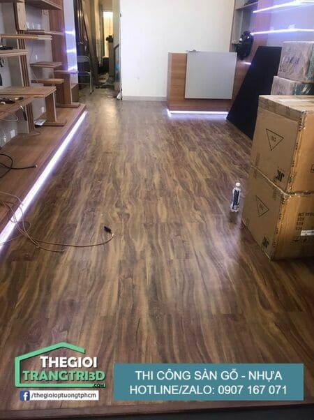 Các loại sàn nhựa giả gỗ tốt, thi công sàn gỗ nhựa Mỹ Tho