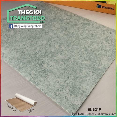 Sàn nhựa vinyl cuộn vân đá Sunyoung 1.8mm - EL8219. Tiết kiệm chi phí tối đa với sàn nhựa vinyl cuộn Sunyoung