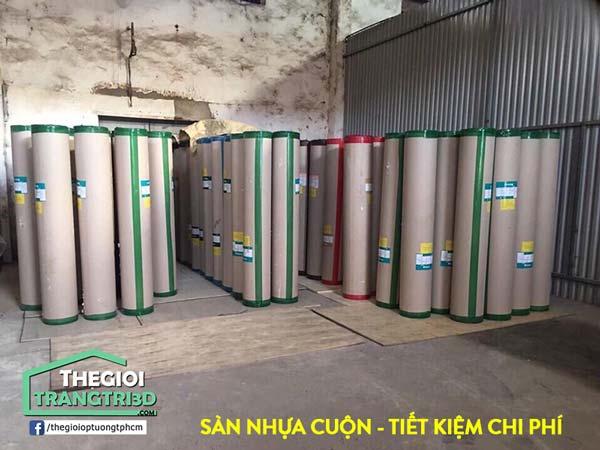 Sàn nhựa Vinyl cuộn Sunyoung rẻ hơn so với nhiều loại sàn gỗ công nghiệp; sàn nhựa hèm khóa