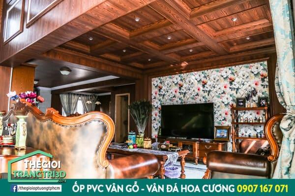 ốp tường giả gỗ tại thị trường nội thất Việt