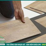 Thi công sàn nhựa giả gỗ vinyl tại hcm, Mỹ Tho; sàn gỗ nhựa giá tốt