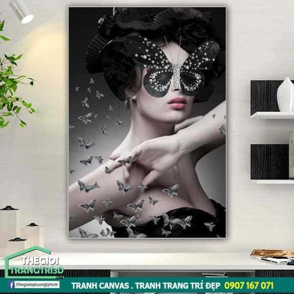 Top 10 mẫu tranh canvas cô gái đẹp nhất, tranh decor nghệ thuật