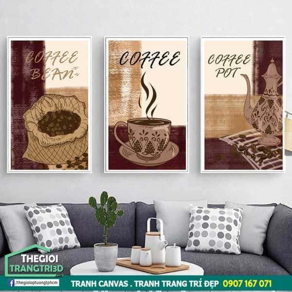 Tổng hợp mẫu tranh canvas cho quán cafe, in tranh decor đẹp giá tốt