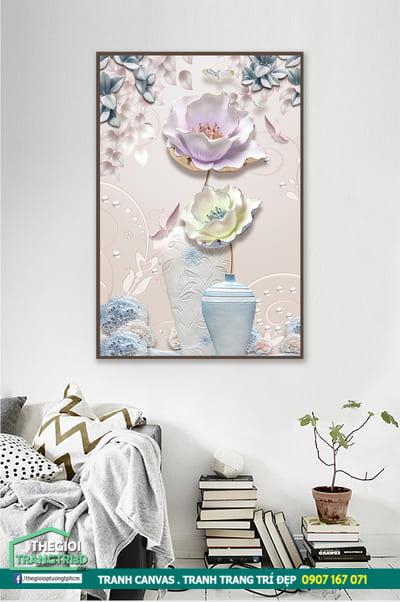 Tranh canvas hoa sen