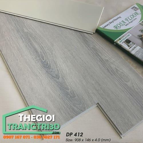 thi công sàn nhựa giả gỗ vân gỗ hèm khóa Rosa Floor tphcm