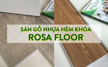 thi công sàn nhựa gỗ hèm khóa rosa floor tphcm mỹ tho