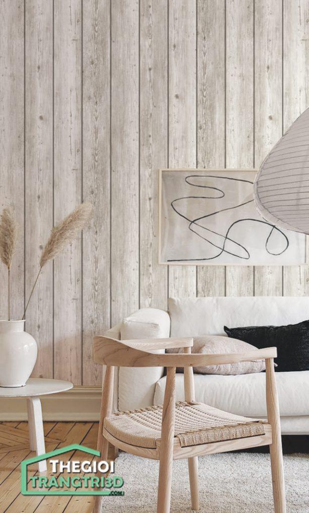 Giấy dán tường giả gỗ đẹp tinh tế