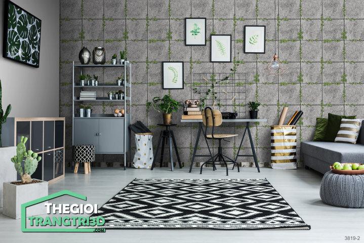 Thi công nội thất đẹp với giấy dán tường Hàn Quốc cao cấp; Giấy dán tường đẹp BASE - 3819-2