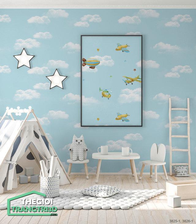Giấy dán tường đẹp BASE - 3825 | 3826-1