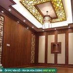 Giá tấm ốp pvc giả gỗ đẹp, thanh lam sóng vân gỗ ốp tường