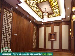 Tấm ốp tường giả gỗ giá rẻ nhưng trang trí nội thất chất lượng