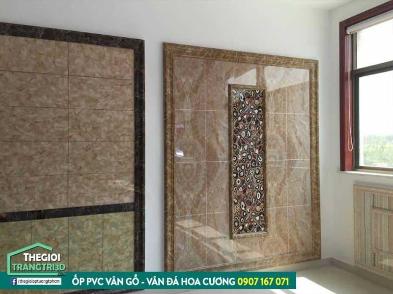 cung cấp tấm pvc ốp tường giả đá hoa cương đẹp, chất lượng