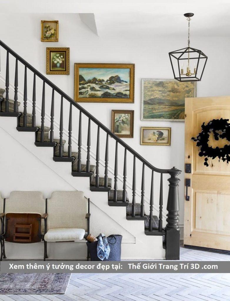 tranh trang trí lối lên cầu thang